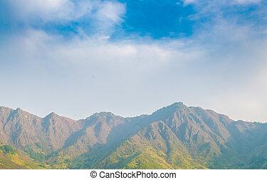Beautiful mountains landscape Kashmir state, India . -...