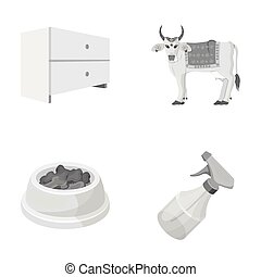 business, religion, industry and other monochrome icon in cartoon style.dispenser, remedy, container, icons in set collection.