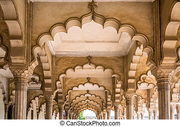 Agra Red Fort, a Unesco World Heritage site, and one of the...