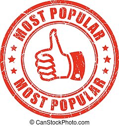 Most popular rubber stamp - Most popular thumb up rubber...