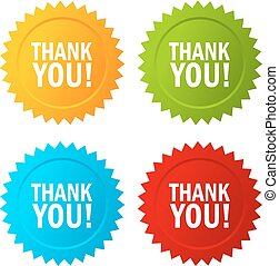 Thank you vector icon - Thank you vector stars icons set