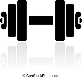 Dumbbells vector icon isolated on white background