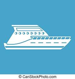 Yacht icon white