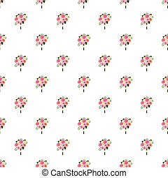 Wedding bouquet of pink roses pattern seamless repeat in...