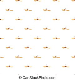 Pod pattern seamless repeat in cartoon style vector...