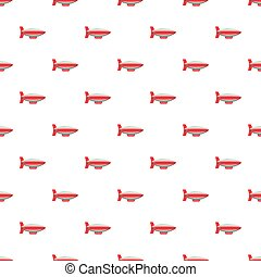 Airship pattern seamless repeat in cartoon style vector...