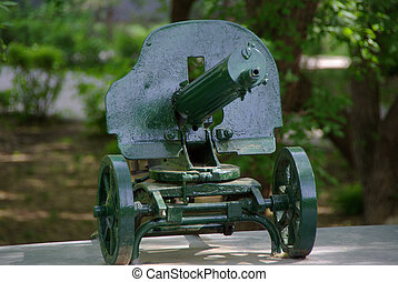 Russian Maxim machine gun during the Civil War