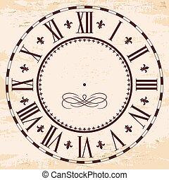 Elegant roman clock.
