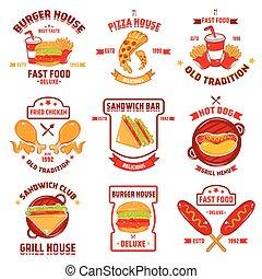 Fast Food Logotype Set