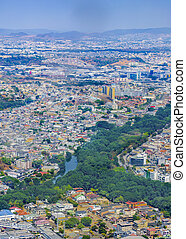 Guayaquil Aerial View From Window Plane - Aerial view of...