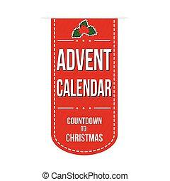 Advent calendar banner design over a white background,...