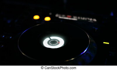 CD player on night disco