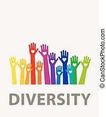 hands diversity color