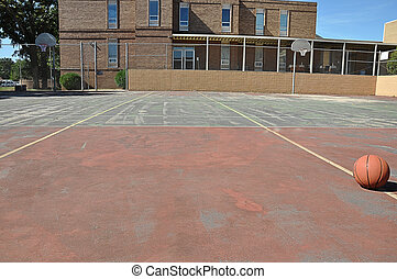 Outdoor Basketball Court - Outdoor basketball court in...