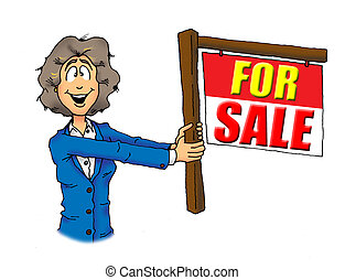 Real Estate Woman Agent For Sale - Image of a Real Estate...