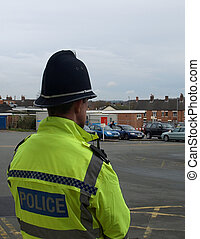 A British Police Officer on Patrol