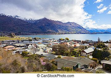 WANAKA NEW ZEALAND - SEPTEMBER 5,2015 : beautiful scenic of...