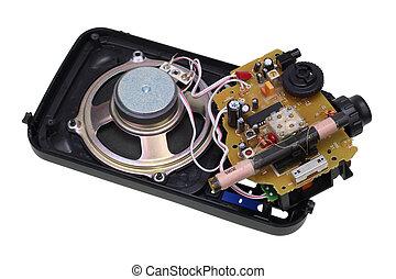 Old broken transistors radio