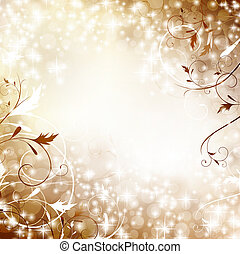holiday background - Holiday bright background with swirls...