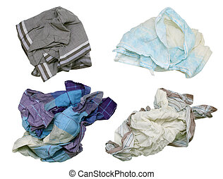 Snotty dirty men's handkerchiefs - winter, this most time...
