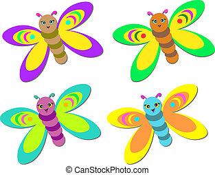 Mix of Cute Baby Butterflies