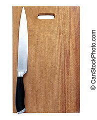 kitchen knive - sharp kitchen knive on the breadboard over...