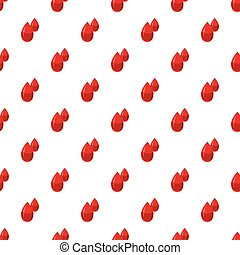 Two drops of blood pattern