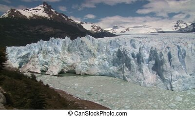 Panoramic view of Perito Moreno glacier in El Calafate...