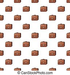 Brown business briefcase pattern
