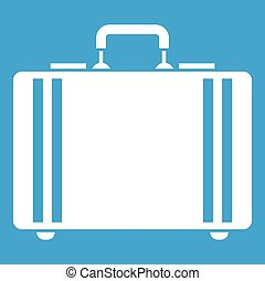 Diplomat icon white isolated on blue background vector...