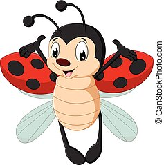Cute ladybug cartoon - Vector illustration of Cute ladybug...