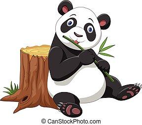 Cute panda cartoon - Vector illustration of Cute panda...