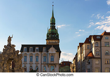 the tower in brno - Beautiful facades of the historical...