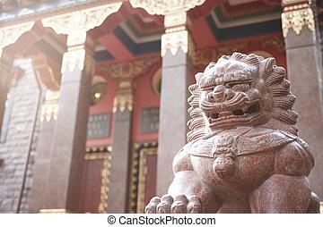 Lamaism Temple Exterior - Detail of a Lamaism temple with...