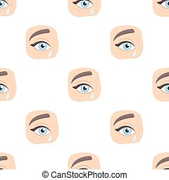 Weepping icon in cartoon style isolated on white background....