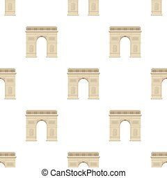 Triumphal arch icon in cartoon style isolated on white...