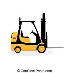 Yellow Vehicle Forklift