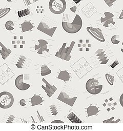 Business Seamless Pattern - Business charts and diagramms...