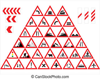 Traffic signs - Warnings - Traffic sign collection: Warnings