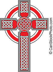 Celtic cross with detailed ornaments