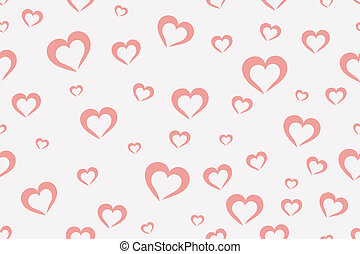 Hearts background - Seamless pink hearts background [vector...