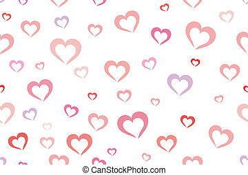 Hearts background - Seamless colorful hearts background...