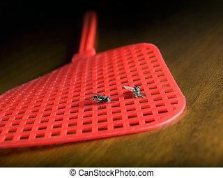 dos, moscas