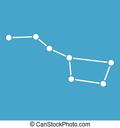 The Great Bear constellation icon white