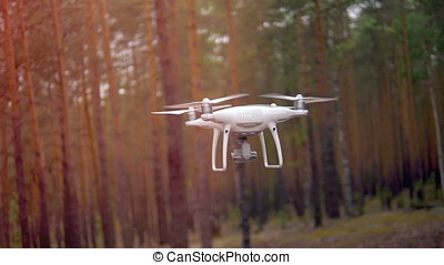 Drone flying. Slow motion. - Technology has gone far and now...