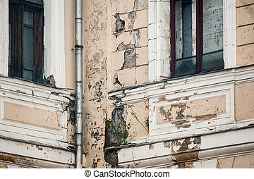 worn out historic building - Concept: worn out historic...