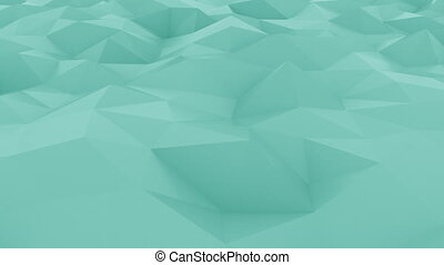 Abstract edge and vertex cyan motion background. Loopable 4K...