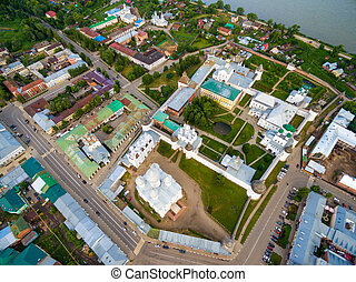 Rostov the Great Kremlin - Aerial Bird-eye view of Gorgeous...