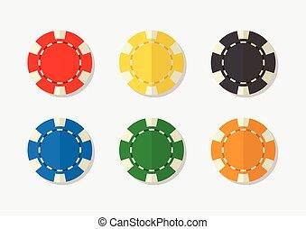Casino chips vector illustration
