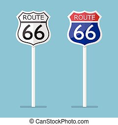 Route 66 road sign set
